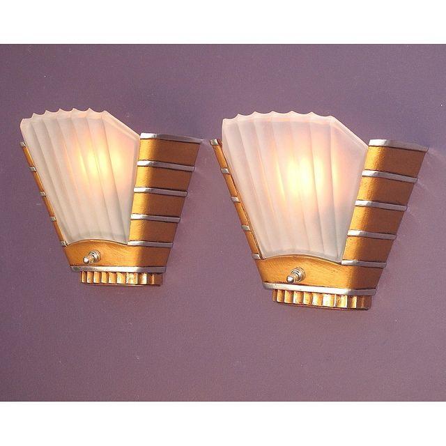 Vintage Art Deco Theater Wall Sconces Art Deco Wall Lights Art