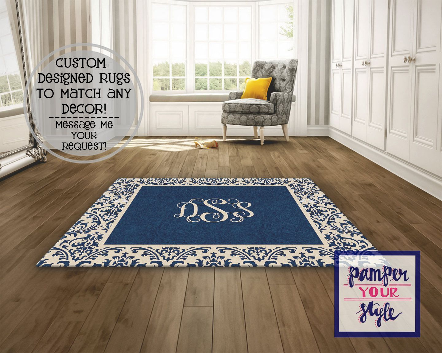 Navy And Tan Custom Area Rug Beige And Navy Blue Personalized Rug Design Custom Rug Monogrammed Personalized Area Rug By Custom Area Rugs Area Rugs Rugs