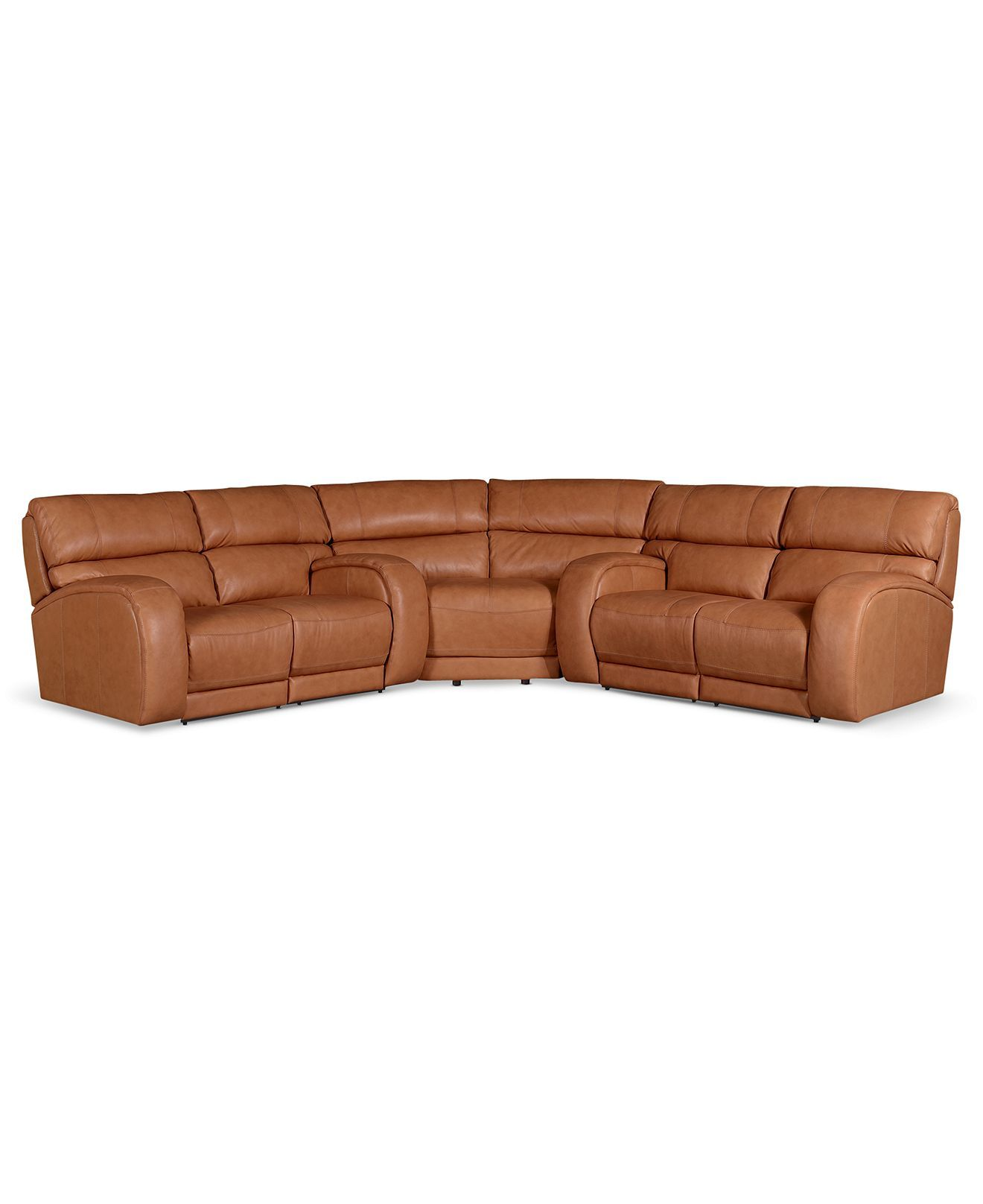 Damon leather reclining sectional sofa 3 piece power for 3 piece sectional sofa with wedge