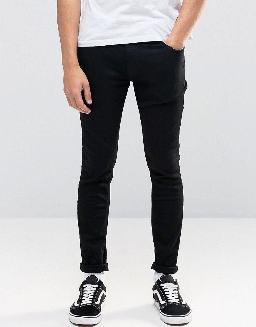 43fff4614406e Jack   Jones Intelligence Skinny Jeans in Black - Black