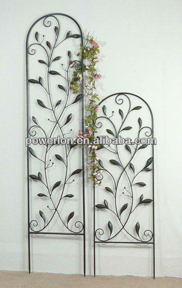 Classic Decorative Wrought Iron Black Metal Flower Trellis View