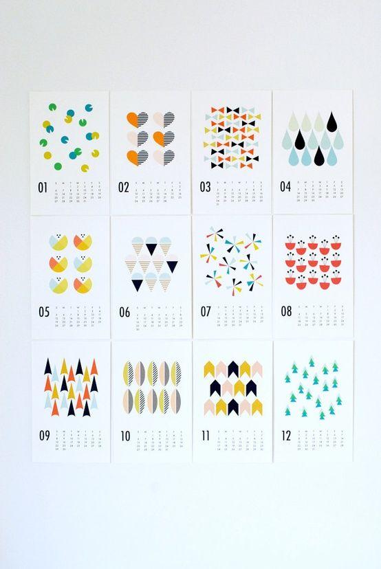 2013 wall calendar by Dozi Design