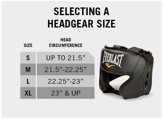 Everlast amateur competition open face headgear size chart also rh pinterest
