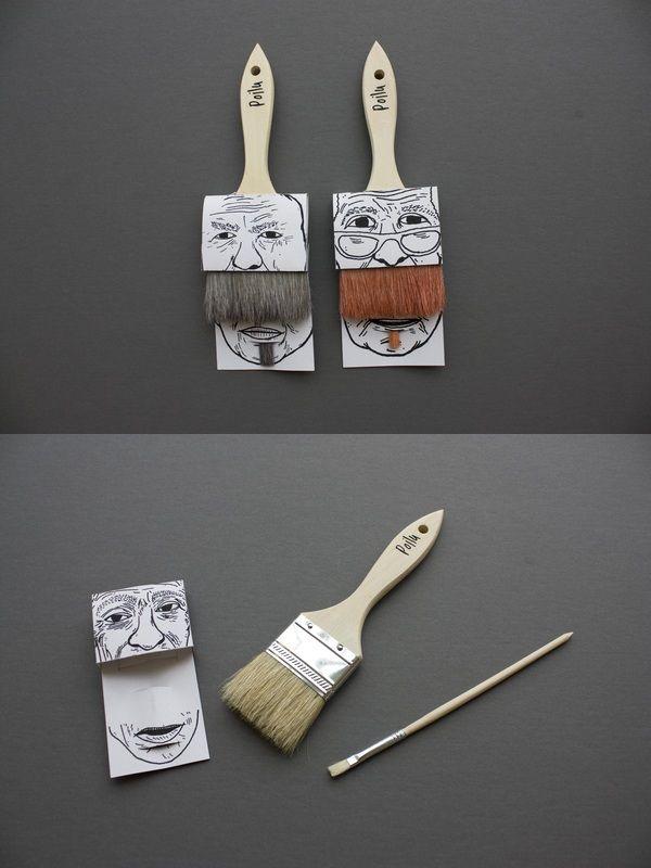 paint brush packaging design from Simon Laliberté