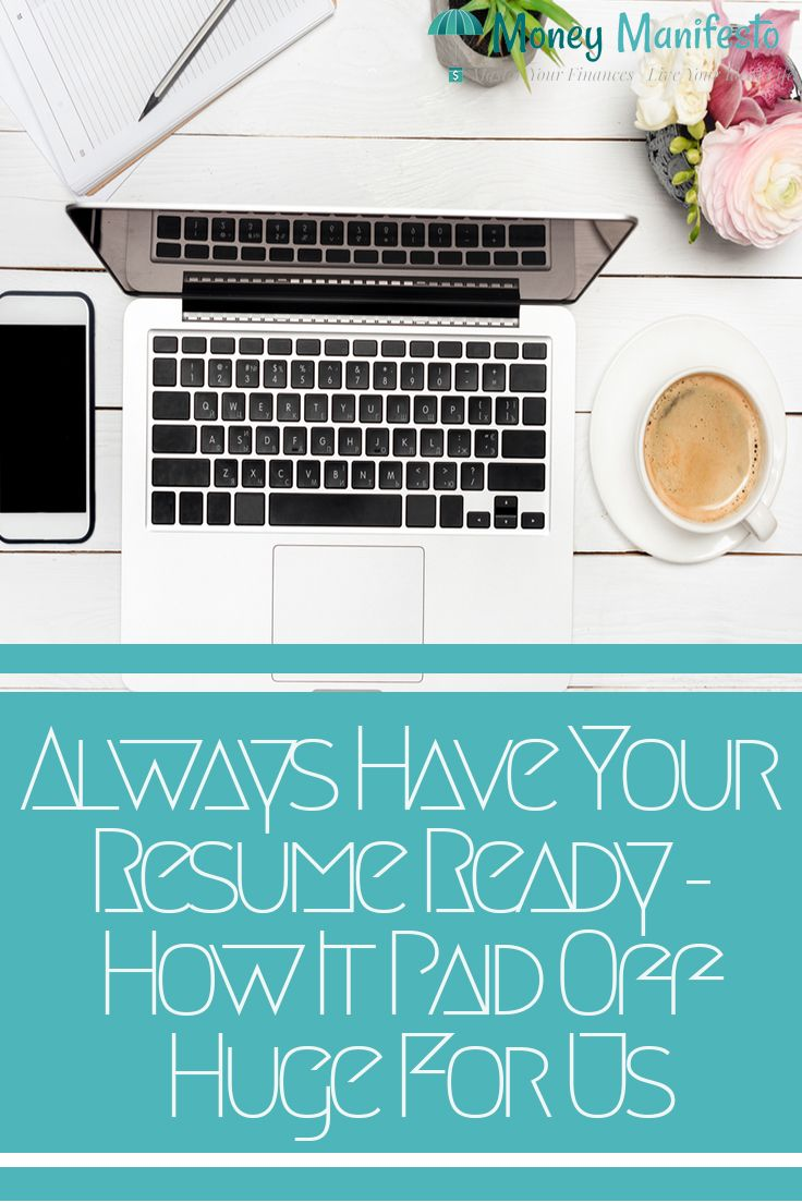 Having an updated resume can pay off current job resume