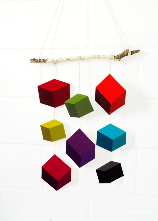 DIY Geometric Wall Hanging, by Love From Ginger
