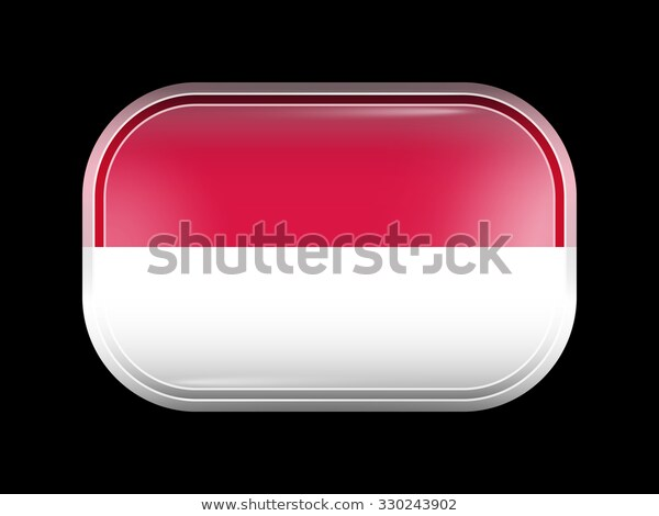 Flag Indonesia Rectangular Shape Rounded Corners Stock Vector Royalty Free 330243902 Flag Vector Shapes