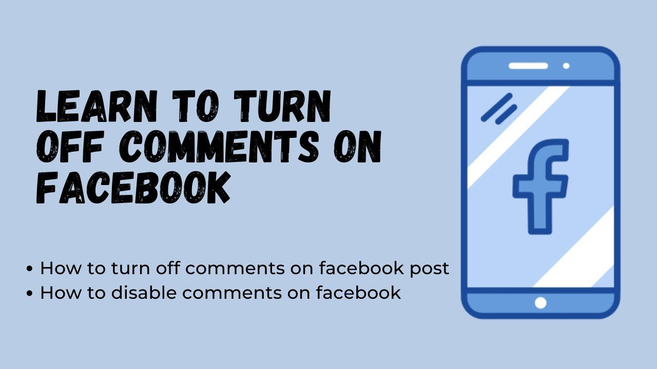 Turn Off Comments On Facebook How To Turn Off Comments On Facebook Post In 2020 Facebook Posts Turn Ons Facebook Help