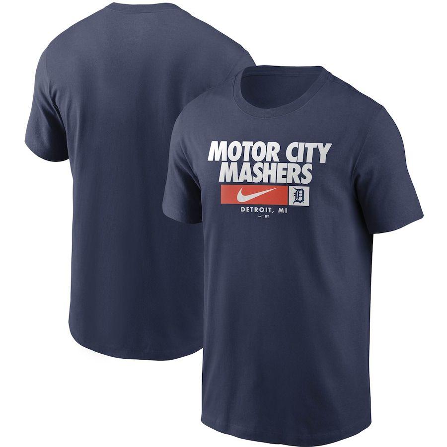 Detroit Tigers Nike Local Nickname T Shirt Navy Nike Men Detroit Tigers Mens Tops [ 900 x 900 Pixel ]