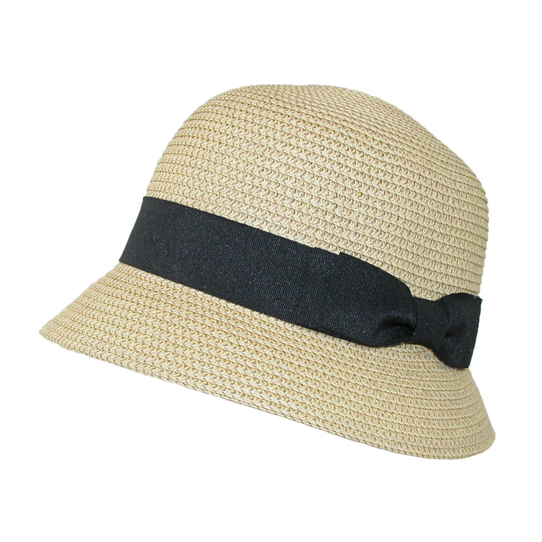 c718a4f55ff Jeanne Simmons Women s Paper Braided Summer Sun Cloche Hat ...