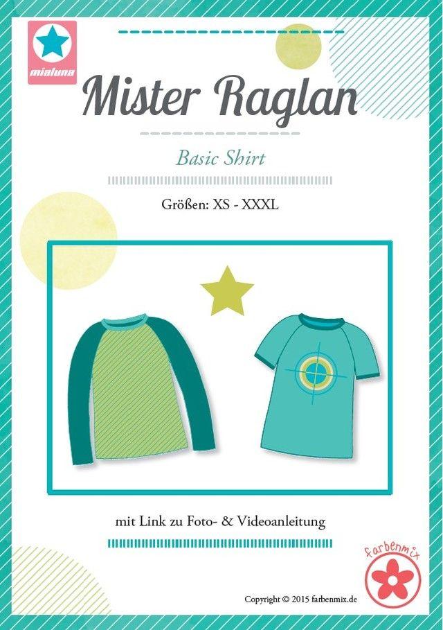 Mister Raglan, Papierschnittmuster | Raglan, Farbenmix und Online shops