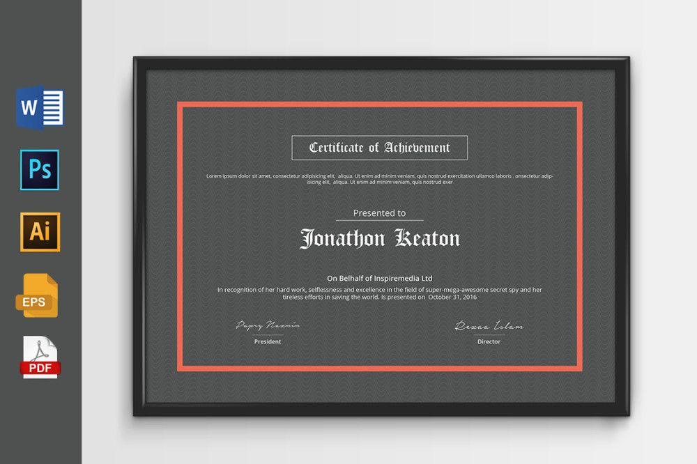 Elegant Certificate Of Attendance Template Certificate Of
