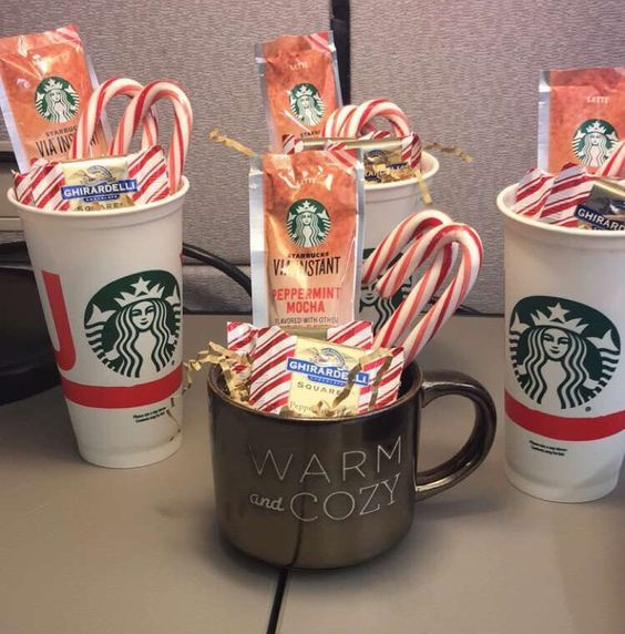 any cozy drink mix any type candy any mug great gift idea for teacher appreciation day mini starbucks christmas coffee baskets diy christmas gifts for