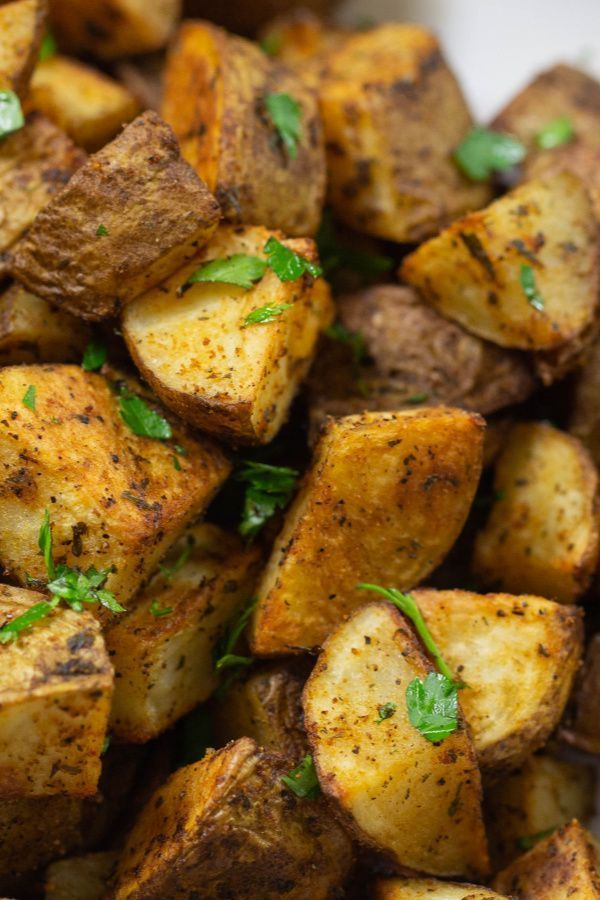 Crispy Roasted Potatoes #russetpotatorecipes