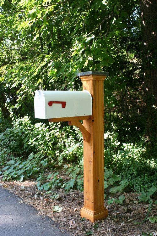 Newberry Cedar Mailbox Post Sleeve Mailbox Landscaping Mailbox Makeover Diy Mailbox
