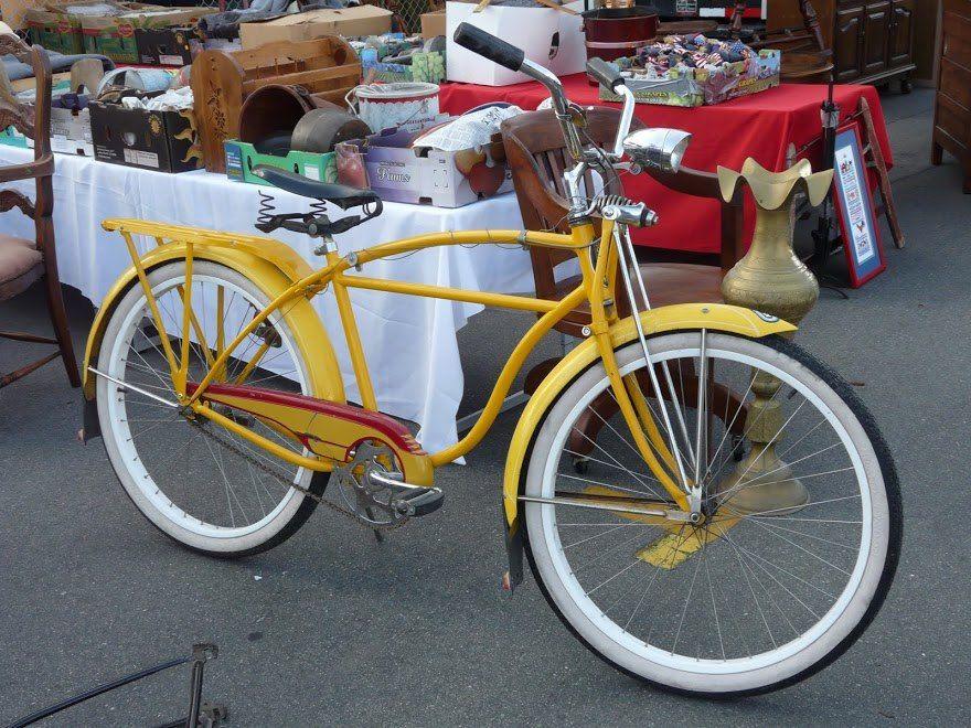 Sunny Yellow Bike Vintage Cruiser Everyday Bicycle Bicycle Vintage Bikes