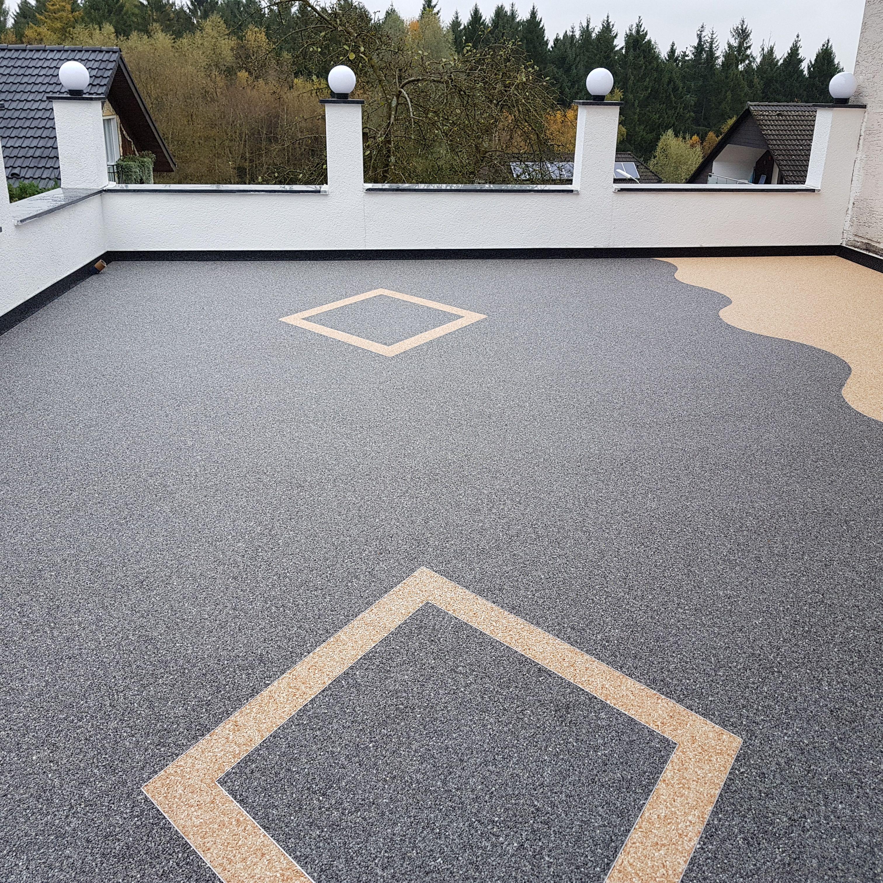 Terrasse Ideen   Terrassengestaltung mit Steinteppich   Auffahrt ...