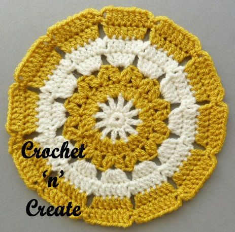 This is the small doily free crochet pattern UK format version, easy ...