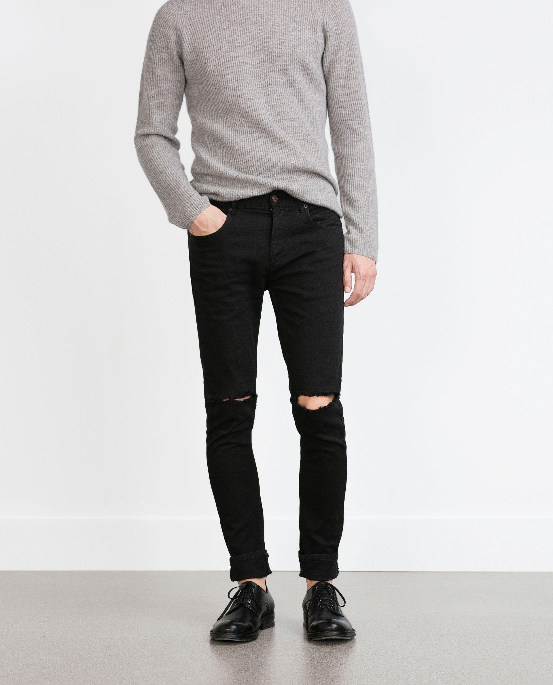 Pantalon Rotos Rodilla Ver Todo Jeans Hombre Long Bomber Jacket Jeans Trousers