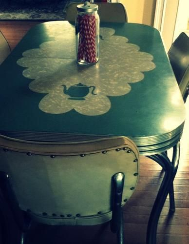 Teapot Formica Table And Chairs Retro Table And Chairs Formica