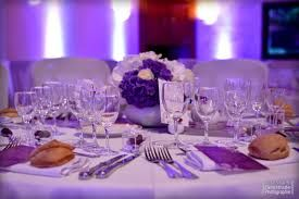 hortensia rose centre table mariage parme