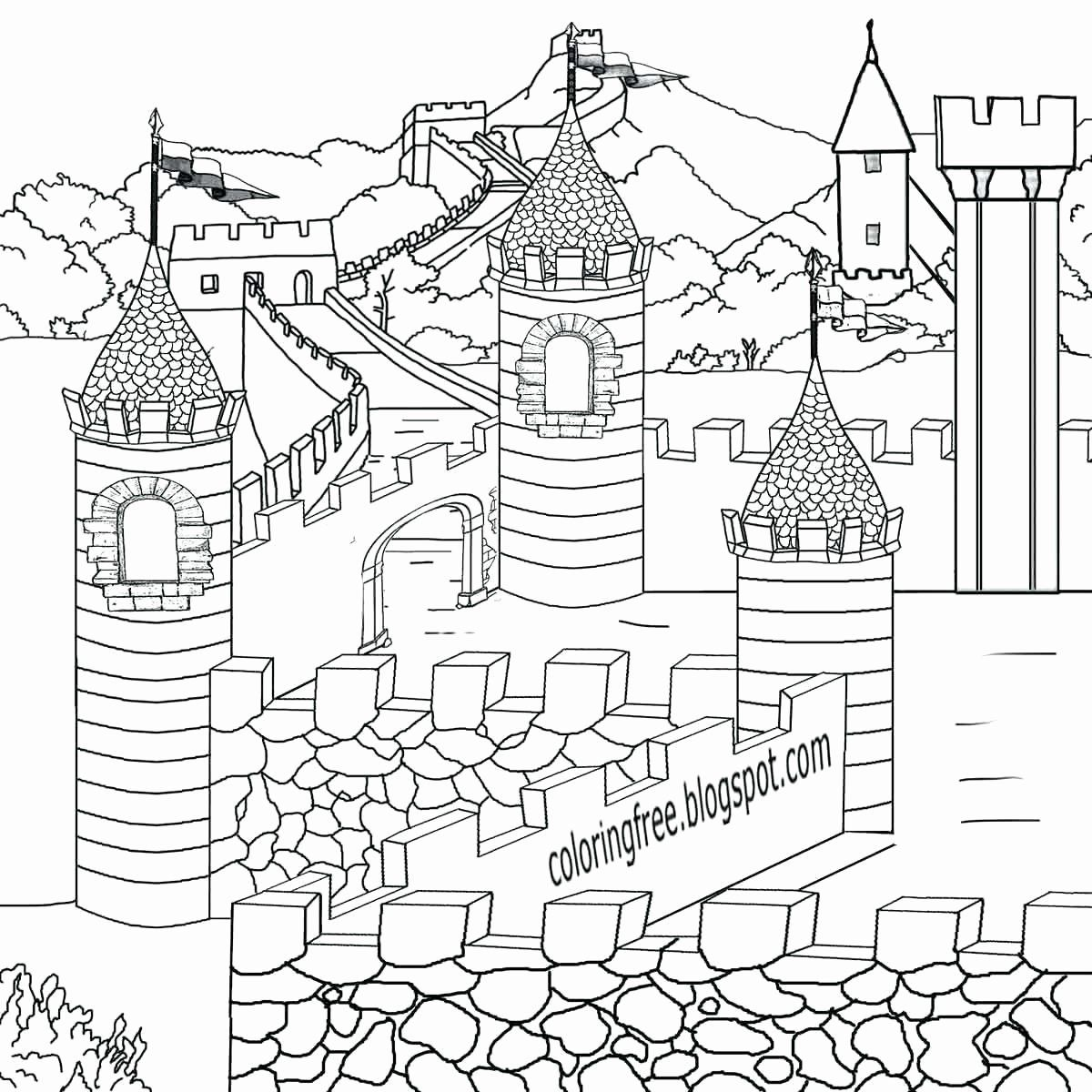 Free Architecture Coloring Pages Luxury Free Printable Lego Castle