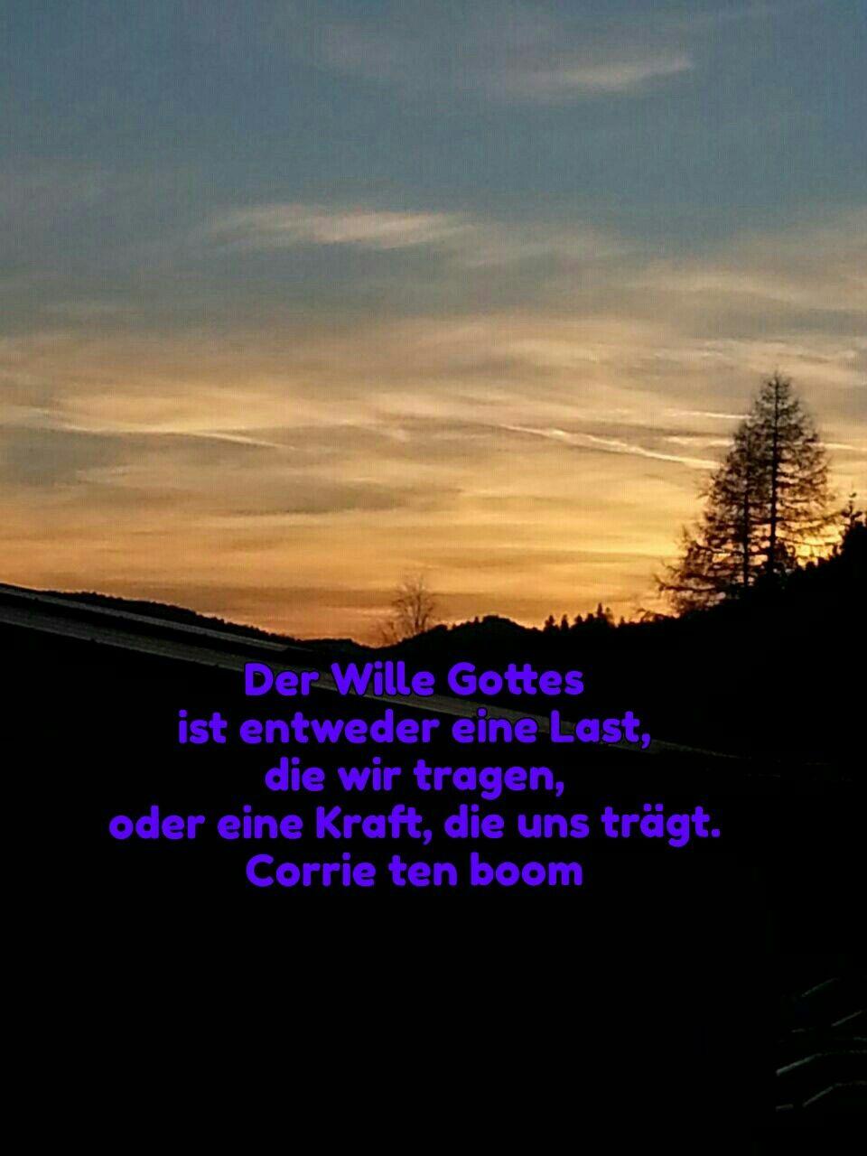 Der Wille Gottes ist entweder eine Last, die wir tragen