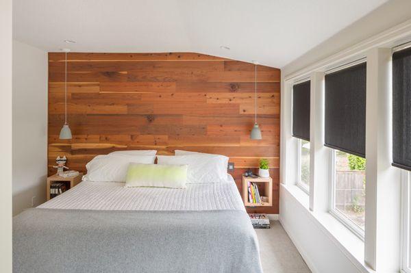 modern-and-small-wood-panel-bedroom-wall - Modern-and-small-wood-panel-bedroom-wall Quartos Compridos E