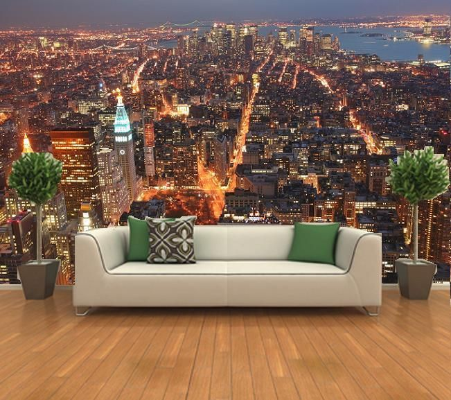 Beautyful New York From The Empire State Building Wall Mural Size X Panels 8 Material Special Art Paper This Comes In Easy
