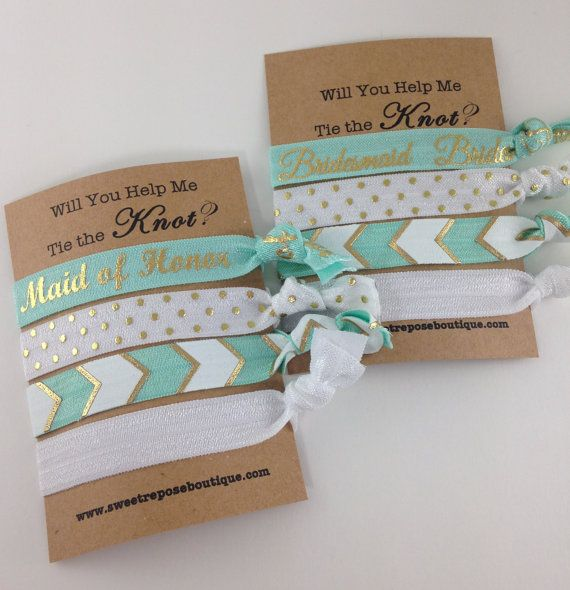 Gift Ideas For Wedding Helpers: Will You Help Me Tie The Knot Bridesmaids By