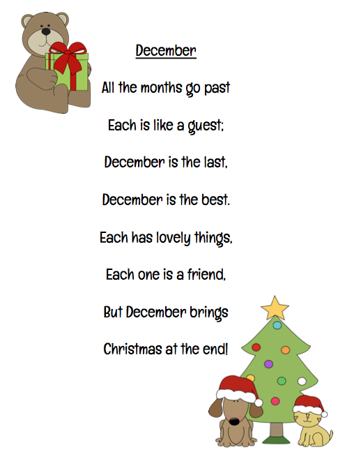 Child Christmas Poetry.Math Poetry Freebies Poetry Christmas Poems December