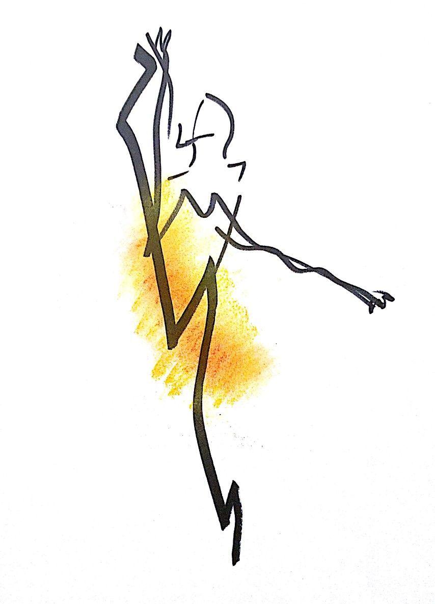 발레리나의 우아한 몸동작을 단순화해보았다.
