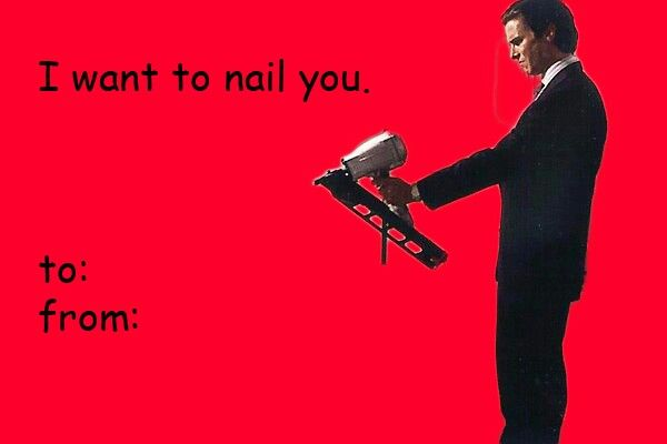 Pin By Erica Hernandez On Funny Stuff American Psycho Valentines Day Memes Psycho Tattoo