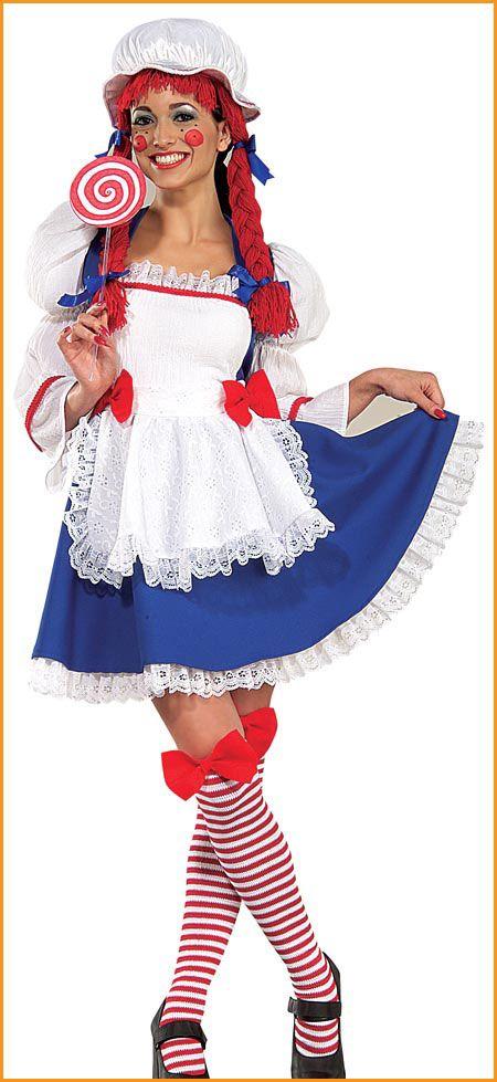 Womens Teens Rag Doll Costume Raggedy Ann Costume Costumes And