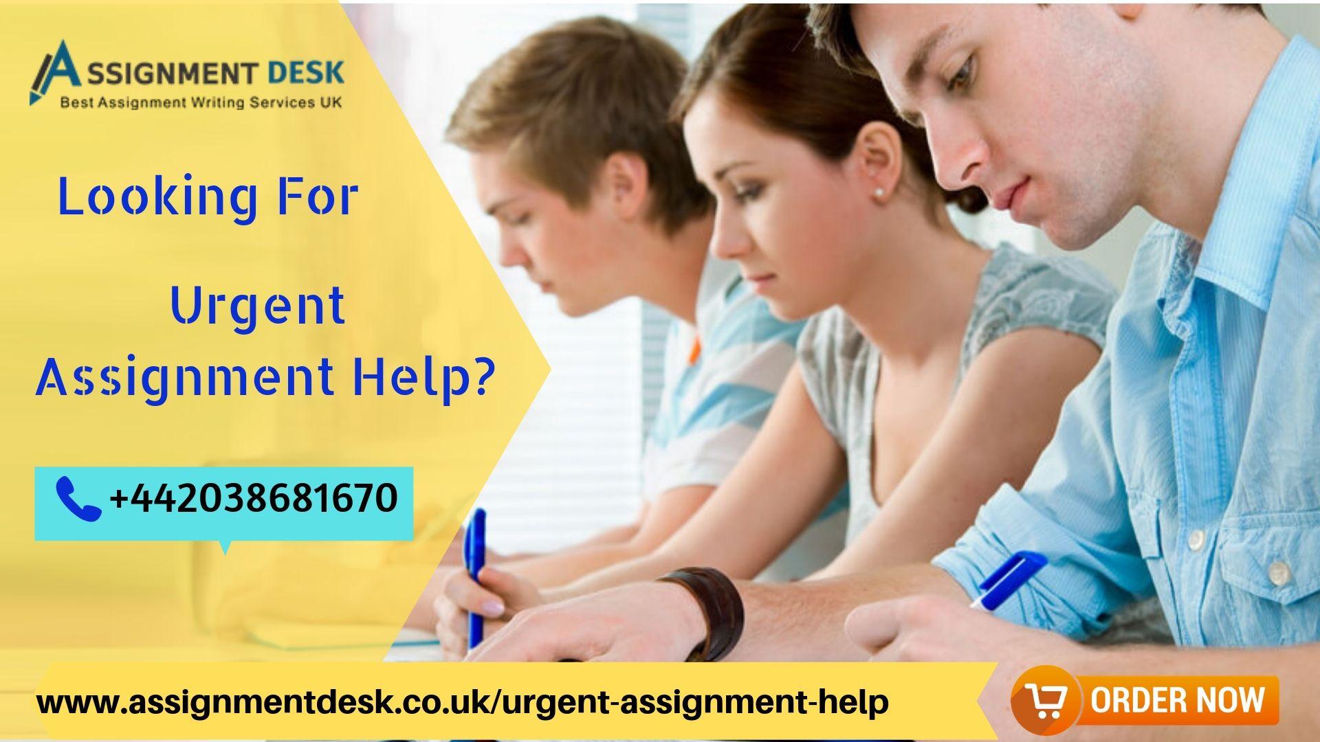 Urgent homework help online