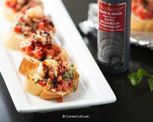 Grilled Shrimp Bruschetta #grilledshrimp