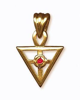 Pingente Triângulo Rosacruz