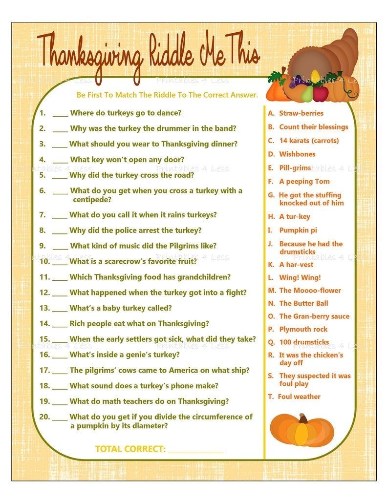 Pin by Amanda Clark on Party games in 2020 Thanksgiving