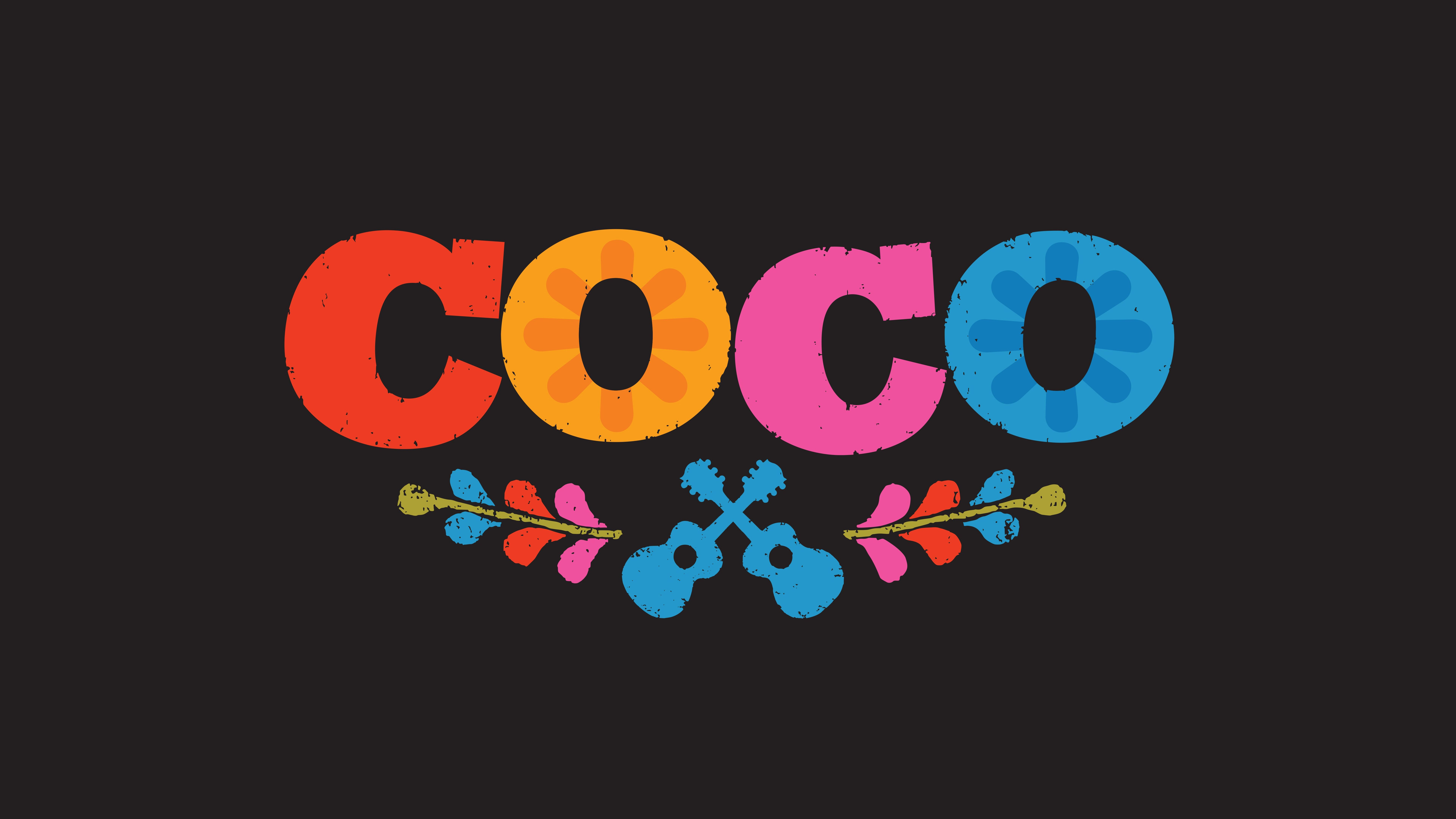 8K Coco 2017 Animated Logo Movie 7680x4320 UHD Wallpaper