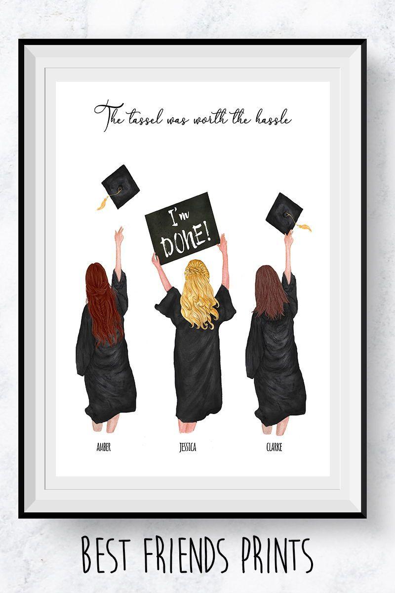 Best friends graduation printpersonalized graduation