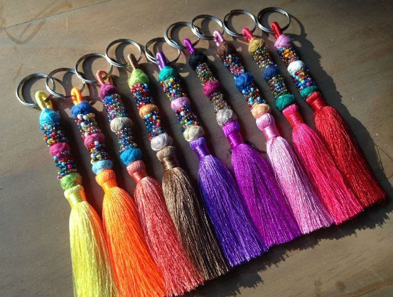 6pcs Mini Tassels Jewelry Making Tassels Keyring Sewing Craft Embellishment