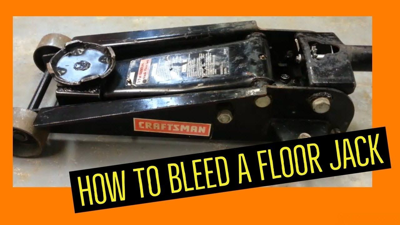 How To Bleed A Floor Jack Fill And Repair A Bad Or Failing Floor Jack Floor Jack Repair Hydraulic Systems