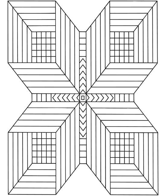 симметрия рисунки карандашом квадраты стоматит