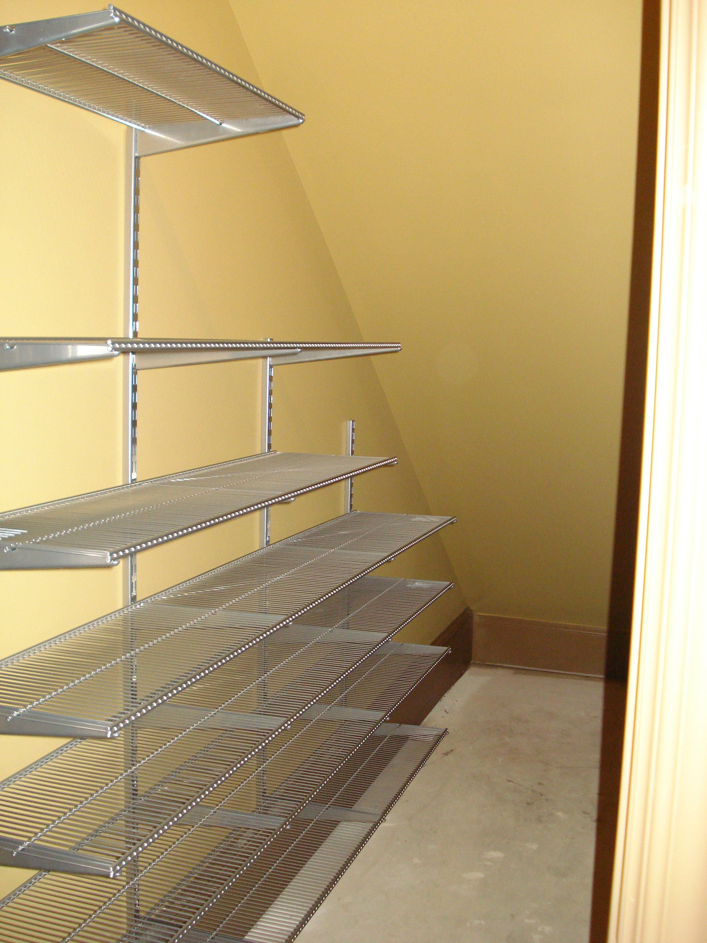 Stairs Shelving The Pesky Under The Stairs Closet So May Of Us Have Elfa