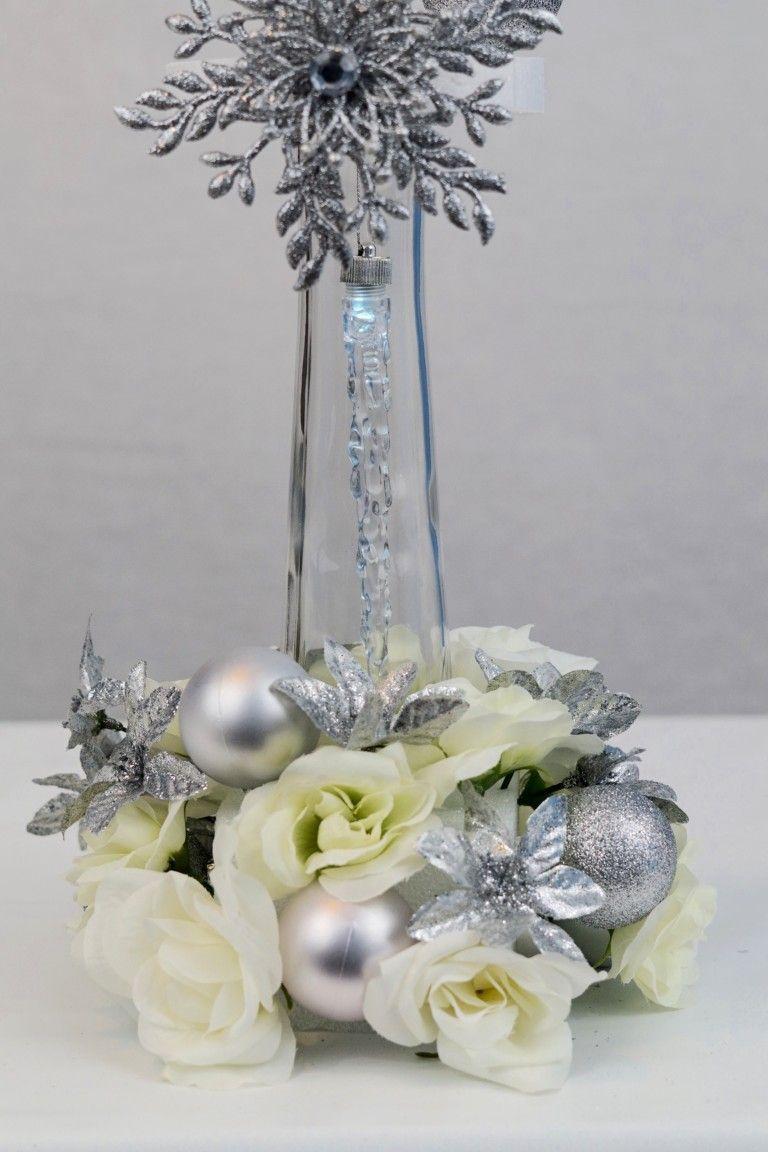 Elegantes Dollar-Baum-Hochzeits-Mittelstück perfekt für eine Winter-Hochzeit   – wedding centerpieces blue / dollar tree wedding