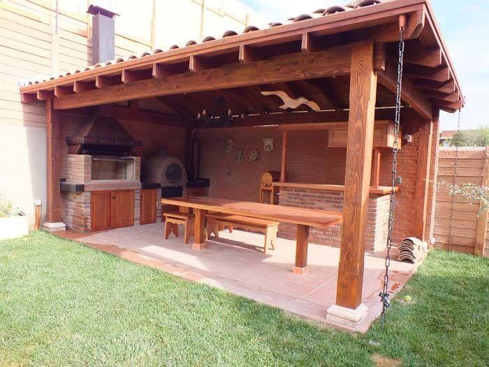 Quinchos terrazas asadores pinterest terrazas for Tejabanes para terrazas