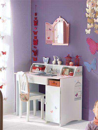 Kinder-Schreibtisch WEIß/ROSA | For girls | Kinder schreibtisch ...