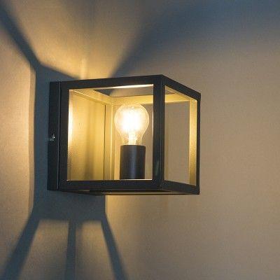 Aplique Gris Cage 1 Balkon Lampe Lampenlicht Lampen