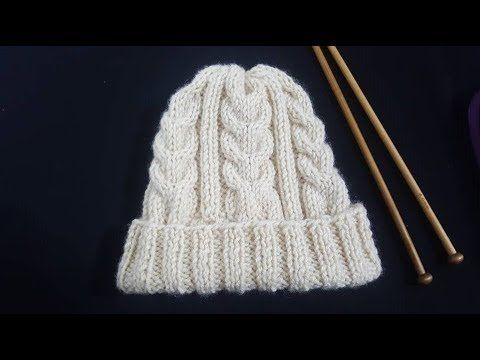 ŞİŞ İLE ERKEK - KADIN Y BURGU BERE YAPIMI-Men's Knit Y With 2 Knit Beanie Making - YouTube #beanies