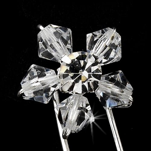 Swarovski Crystal Daisy Hair Pin 31 (1 pc)